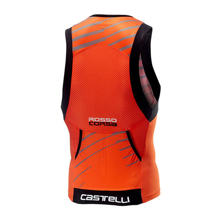 Castelli Free Tri Top オレンジ<カステリフリートライトップ>