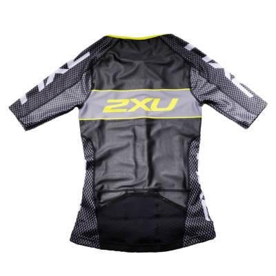 2XU X-VENT Custom Sleeved Tri Top ブラック / イエロー