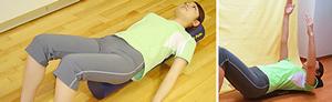 股関節まわりの筋肉を緩め、骨盤の矯正を行います。